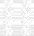 Paper white merging spirals on continues lines vector image