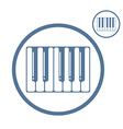 Piano keyboard icon isolated vector image