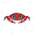 Red Crab Drawing vector image vector image