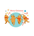 reindeer party with christmas decorated vector image vector image