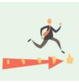Running for Money vector image