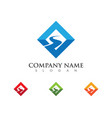 s letter logo template icon vector image
