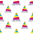 seamless pattern with abstract cake vector image vector image