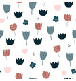 seamless pattern with abstract flowers creative vector image vector image