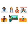 set of business character and people gaming vector image vector image