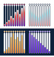 set premium quality marketing analytics bar chart vector image vector image