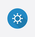 ship wheel Flat Blue Simple Icon with long shadow vector image vector image