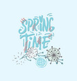 spring time- inspiringmotivation quote in circle vector image vector image