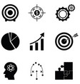strategy icon set vector image