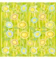 sunflower floral background vector image