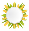 sweet corn frame template realistic vector image
