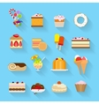 Sweets flat icons vector image