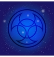 Symbol of alchemy and sacred geometry on cosmic vector image