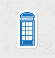 telephone box icon vector image