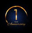 template logo 1 year anniversary
