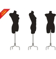 Three tailor dummy vector image vector image
