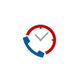 time call logo icon design vector image vector image