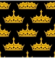 vintage royal seamless pattern with golden crowns vector image vector image