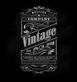 vintage western hand drawn frame label blackboard vector image vector image
