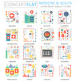 infographics mini concept medicine and health vector image