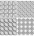 Set of monochrome geometrical patterns vector image