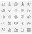 Investment and money icons vector image