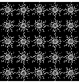 Abstract sun black and white seamless pattern vector image vector image