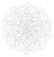 adult coloring bookpage a cute zen mandala image vector image