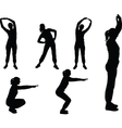 aerobics girl 3 - vector image vector image