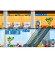 Airport Terminal Flat Composition vector image vector image