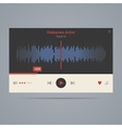 audio player with equalizer vector image vector image