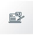 blogging icon line symbol premium quality vector image vector image
