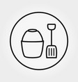 bucket and shovel toy universal icon vector image