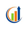 business finance arrow chart logo vector image vector image