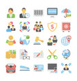 business flat colored icons 4 vector image vector image