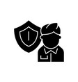 business insurance black concept icon vector image