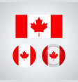 canadian trio flags vector image