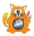 Cat is ready to explode ideas vector image vector image