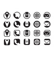 contact information icons info telephone mobile vector image