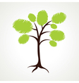 creative green tree vector image vector image