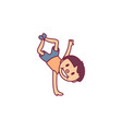 cute cartoon kid child vector image