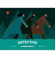 Detectives investigating at night vector image vector image