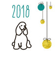 dog is a symbol of the 2018 chinese new year vector image vector image