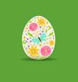 easter egg floral decoration vector image vector image