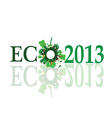 eco 2013 sign vector image vector image