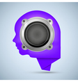 Face Shape Icon with speaker vector image