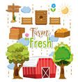 farm fresh products vector image vector image