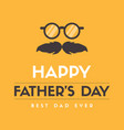 father day eyeglasses design greeting card vector image