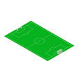 football and soccer sport field isometric vector image vector image