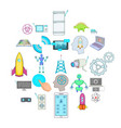 future generations icons set cartoon style vector image